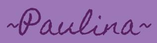 ~Paulina~ signature in casual purple cursive with purple background